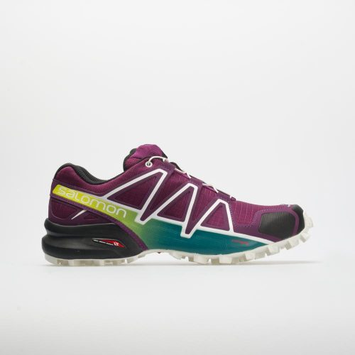 Salomon Speedcross 4: Salomon Women's Running Shoes Dark Purple/White/Deep Lake