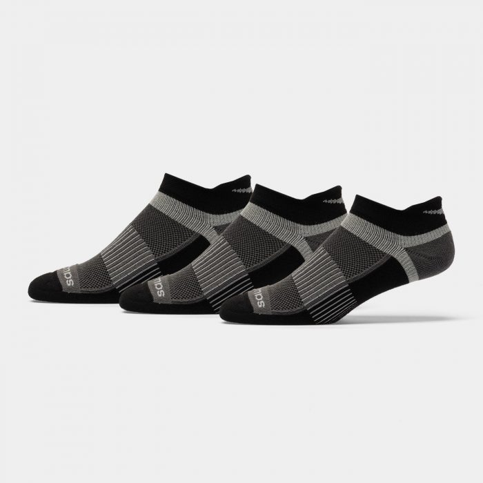 Saucony Inferno No Show Tab Socks 3 Pack: Saucony Socks