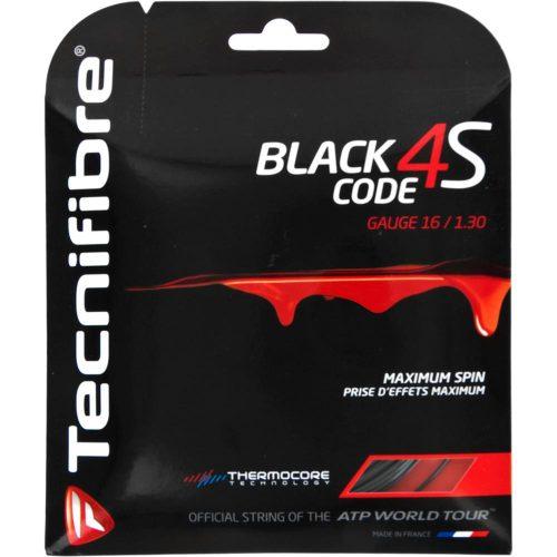 Tecnifibre Black Code 4S 16 1.30: Tecnifibre Tennis String Packages