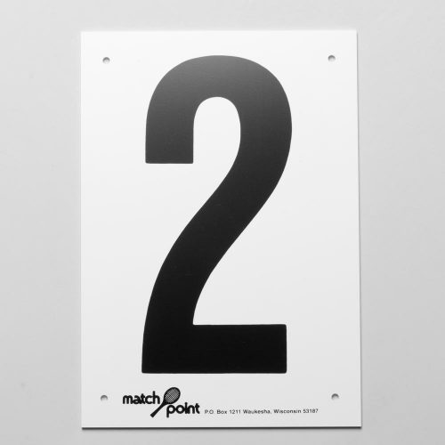 Tennis Court Numbers- Plastic: Wilson Court Equipment