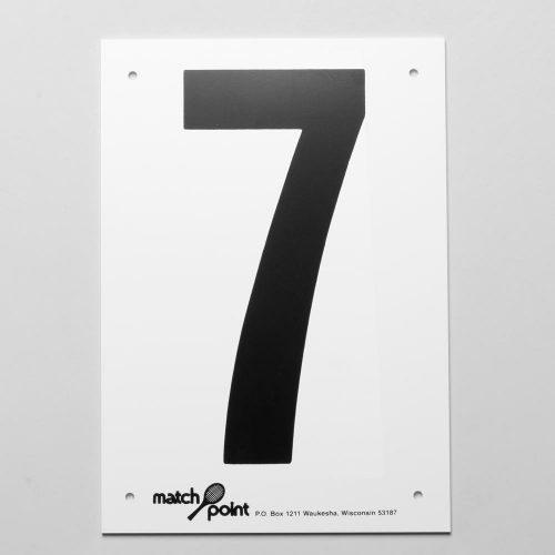 Tennis Court Numbers- Plastic: Wilson Court Equipment