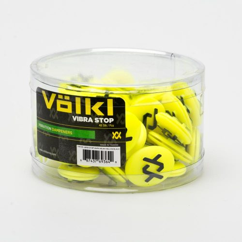 Volkl Vibrastop Jar 48 Pieces Neon Yellow/Black: Volkl Vibration Dampeners