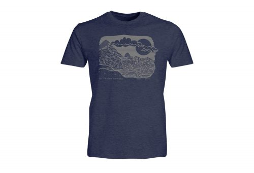 Wilder & Sons Let The Good Tides Roll Tee - Men's - navy heather, large