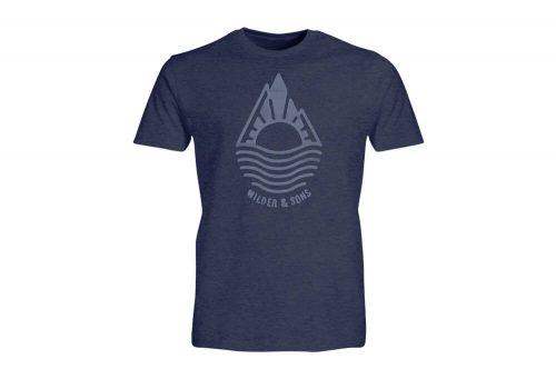 Wilder & Sons Mountain Drop T-Shirt - Men's - navy heather, medium