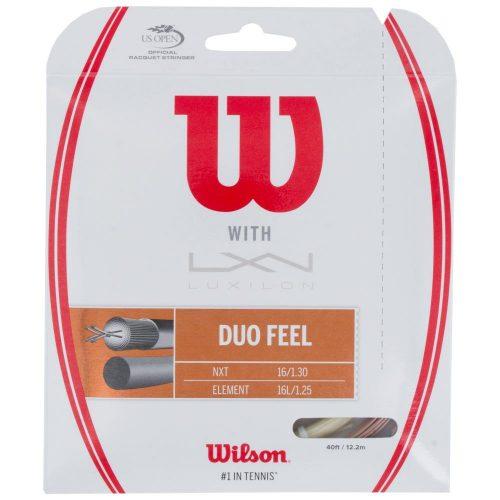 Wilson Duo Feel Element 125 + NXT 16: Wilson Tennis String Packages
