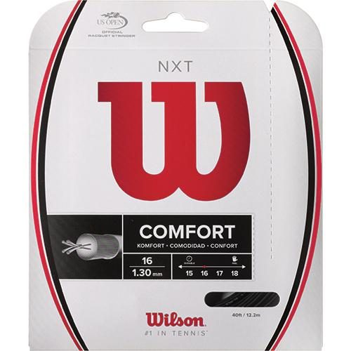 Wilson NXT 16 Black: Wilson Tennis String Packages