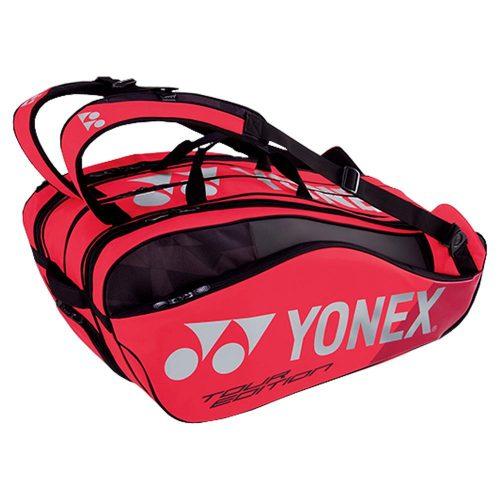 Yonex Pro Racquet Bag 9 Pack Flame Red: Yonex Tennis Bags