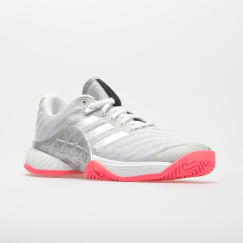 adidas Barricade 2018: adidas Women's Tennis Shoes Matte Silver/White/Flash Red