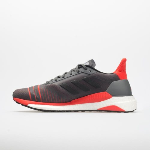 adidas Solar Glide: adidas Men's Running Shoes Grey/Black/Hi-Res Red