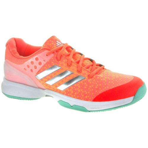adidas adizero Ubersonic 2: adidas Women's Tennis Shoes Glow Orange/Silver Metallic