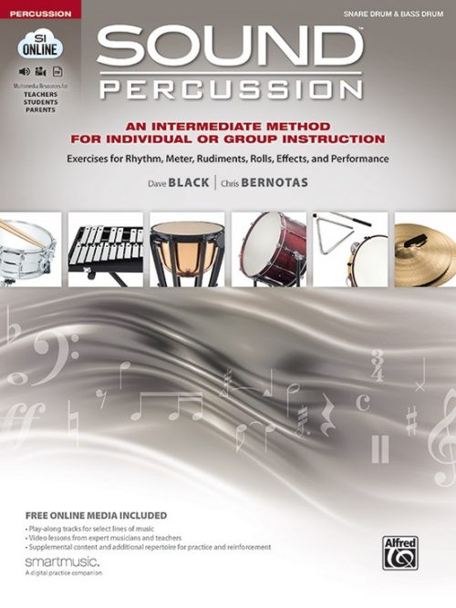 Alfred 00-47318 Sound Percussion An Intermediate Method for Individual or Group Instruction - Snare Drum & Bass Drum