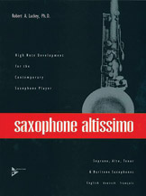 Alfred 01-ADV7023 Advance Music Saxophone Altissimo