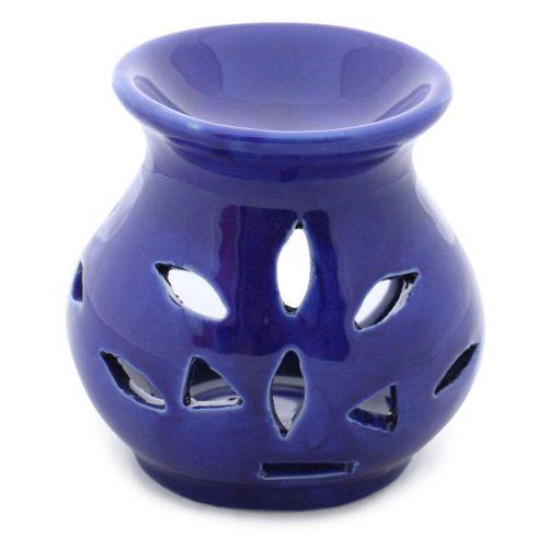 Benzara BM113370 Handmade Ceramic Oil Diffuser & Warmer Royal Blue