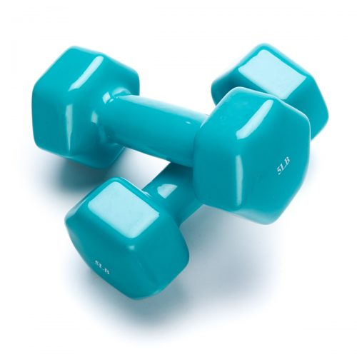 Black Mountain Products 5lb DB Pair Vinyl Dumbbell Aqua - Set of 2