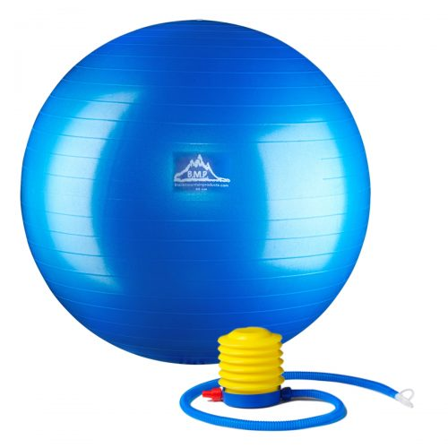 Black Mountain Products PSBLUE 85CM 85 cm Professional Grade Stability Ball - Pro Series Anti-Burst Static Weight Capacity Blue