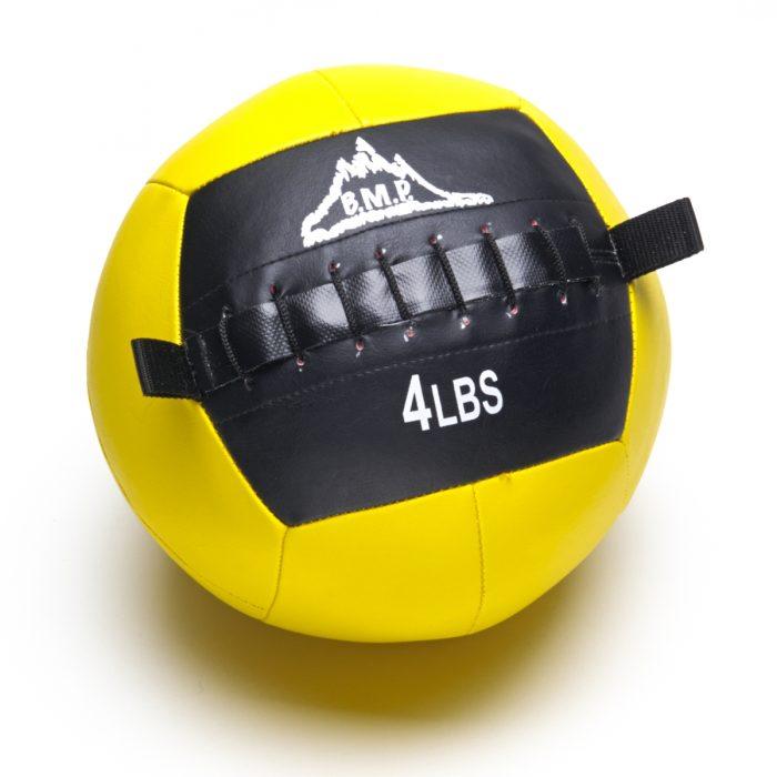 Black Mountain Products Slam Ball 4lbs Black Mountain Fitness Slam Ball for Strength & Endurance Training Yellow