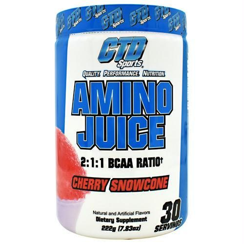 CTD 4330055 222 g Sports Amino Juice Cherry Snowcone - 30 Servings