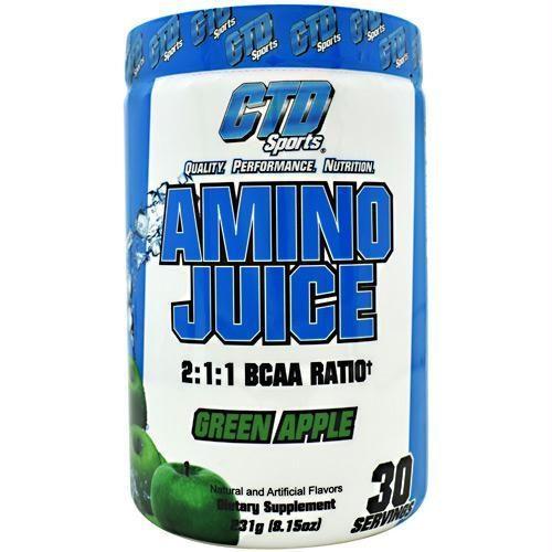 CTD 4330056 231 g Sports Amino Juice Green Apple - 30 Servings