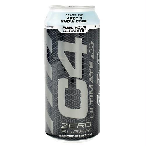 Cellucor 6550711 16 oz Original C4 on The Go Sparkling Arctic Snow Cone - 12 Per Case