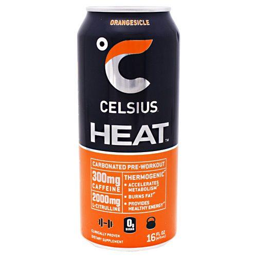 Celsius 5640047 16 - 12 Oz Celsius Heat Orangesicle