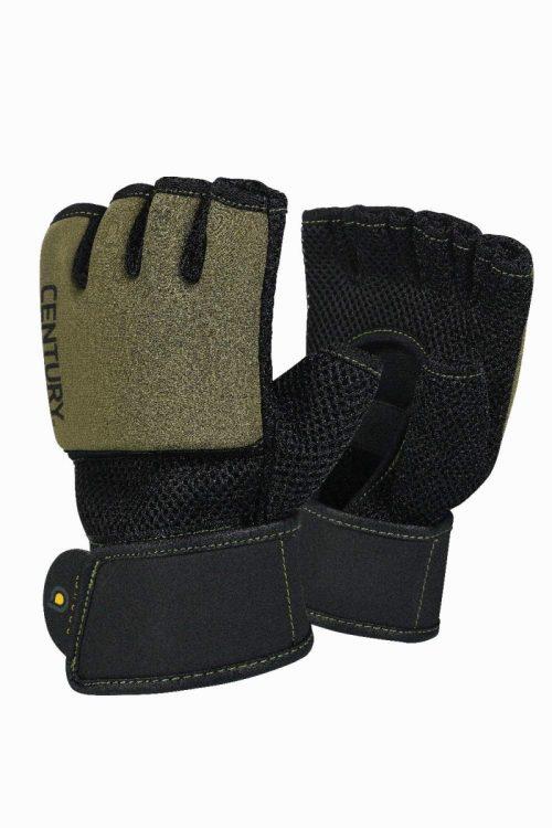 Century 147122P-013252 Brave Mens Gel Glove - Black & Olive Large & Extra Large