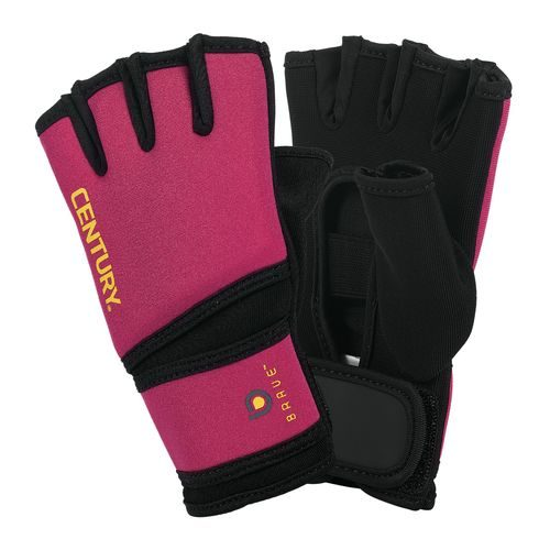Century 147123P-044 Brave Womens Gel Gloves - Black & Pink One Size