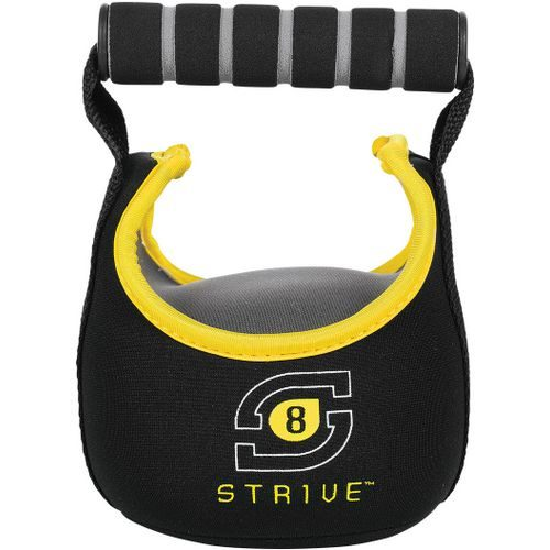Century 2481-012808 8 lbs Strive Soft Kettle Bells - Black & Yellow