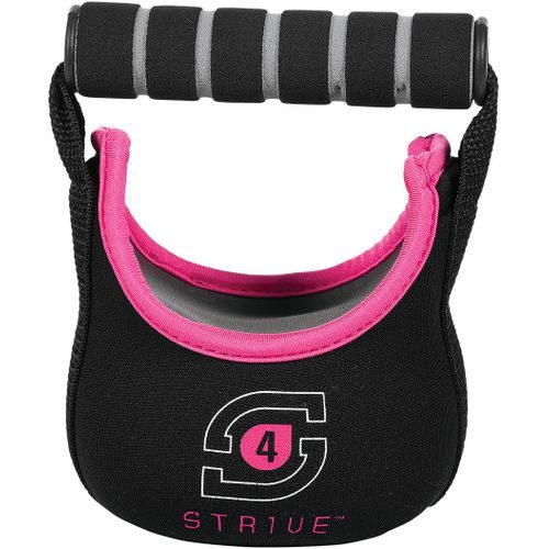 Century 2481-044804 4 lbs Strive Soft Kettle Bells - Black & Pink