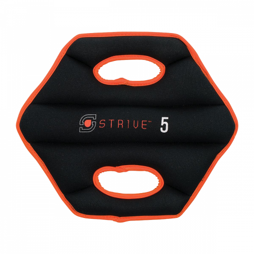 Century 2483-014805 5 lbs Strive Neoprene Sand Discs - Black & Orange