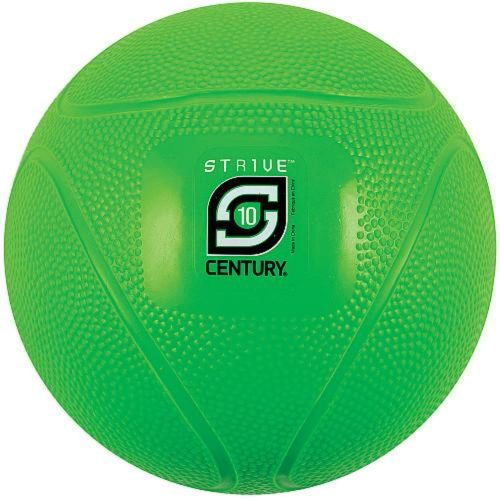 Century 24942P-500810 10 lbs Strive Medicine Ball - Green