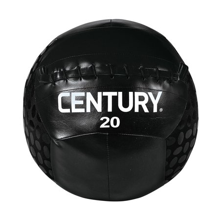 Century 2498P-015820 20 lbs Challenge Grip Ball - Black