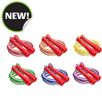 Champion Sports EXR7SET 9 ft. Deluxe XU Jump Rope with Blue Handle - Set of 6