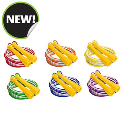 Champion Sports EXR8SET 10 ft. Deluxe XU Jump Rope with Orange Handle - Set of 6