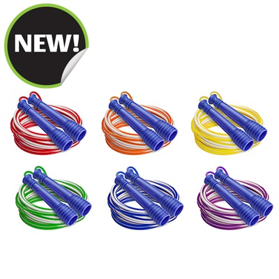 Champion Sports EXR9SET 16 ft. Deluxe XU Jump Rope with Purple Handle - Set of 6
