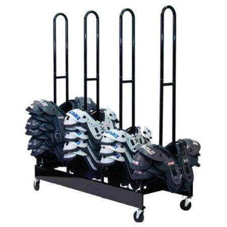 Champion Sports FBSPR4 Four Stack Shoulder Pad Rack Black