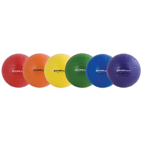 Champion Sports RSVBSET 8 in. Rhino Skin Ball Set Multicolor - Set of 6