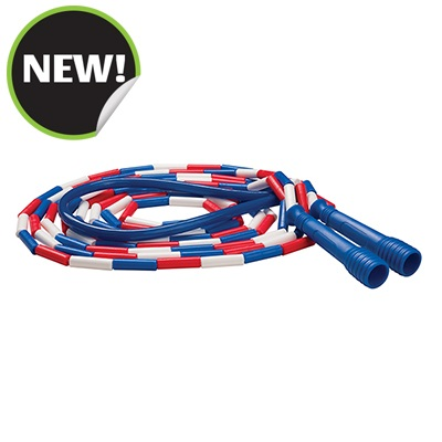 Champion Sports SJ16 16 ft. Deluxe XU Beaded Jump Rope - Red White & Blue