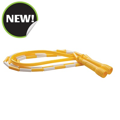 Champion Sports SJ8 8 ft. Deluxe XU Beaded Jump Rope Yellow