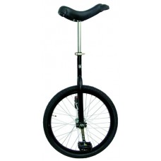 Fun 659322 Matte Black 20 in. Unicycle with Alloy Rim