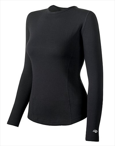 Hanes KEW3 Duofold Varitherm Performance Womens Thermal Long-Sleeve Shirt Size Extra Large Black