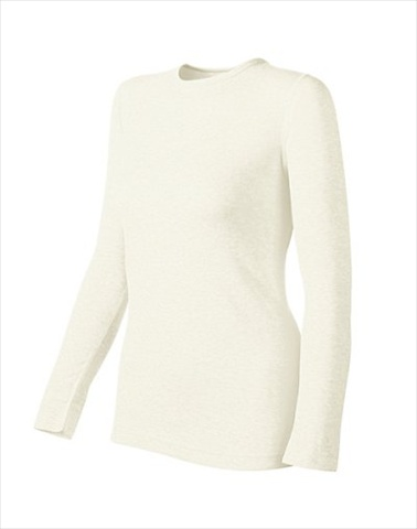 Hanes KWM1 Duofold Originals Mid-Weight Womens Thermal Shirt Size Large Winter White