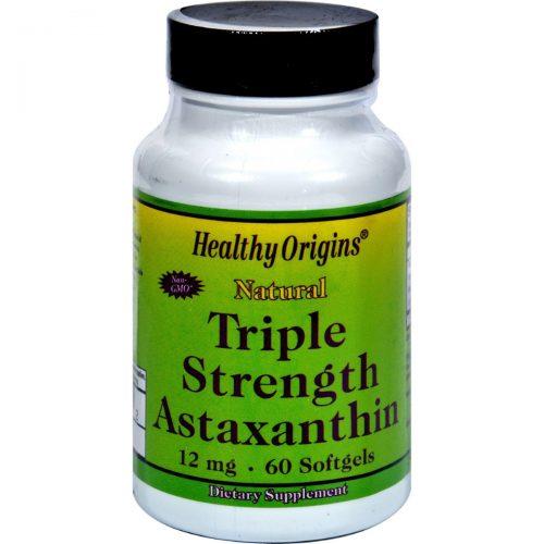 Healthy Origins HG1099555 12 mg Astaxanthin Triple Strength - 60 Softgels