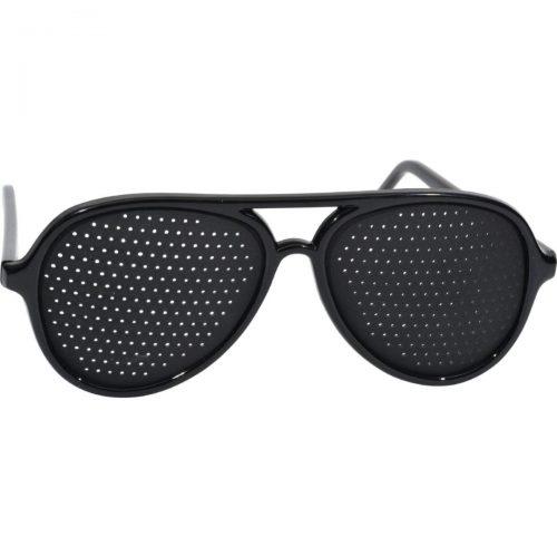 Heritage Products HG0349001 Pinhole Glasses Full Frame Black - 1 Pair