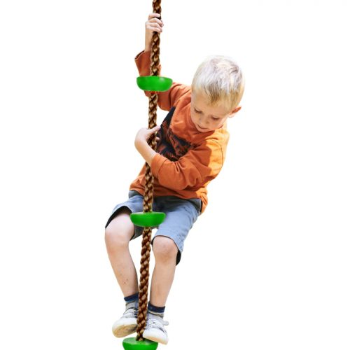 Hey Play M350065 Climbing Rope Knotted Tree Swing Ladder