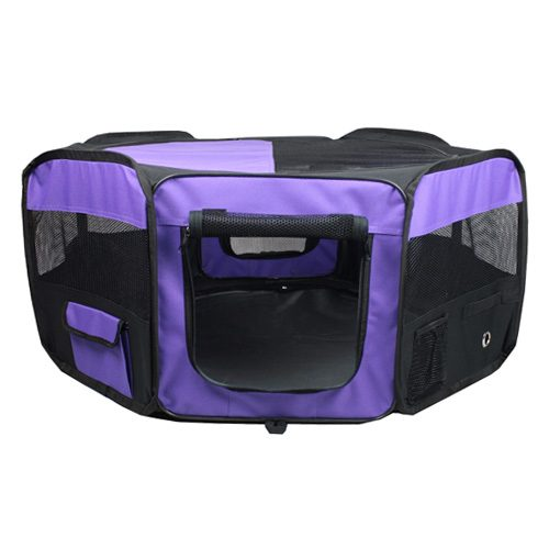 Iconic Pet 51602 Portable Pet Soft Play Pen Purple - Medium