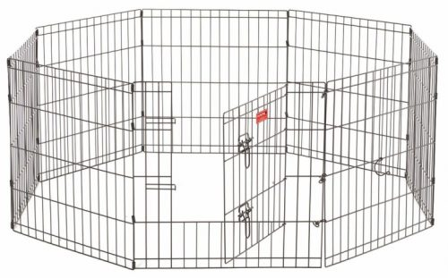 Jewett Cameron Company ZW 11636 Exercise Pen with Stakes Black - 36 in.