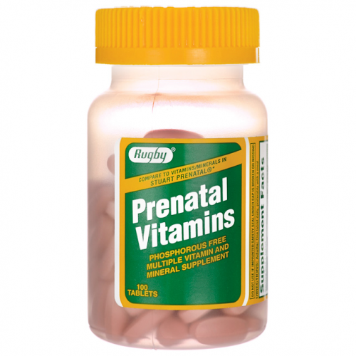 Merchandise 1893831 Rugby Prenatal Vitamins 100 Tablets