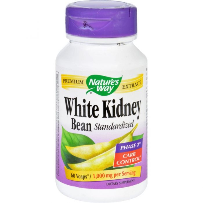 Natures Way HG1279850 Kidney Bean White - 60 Vegetarian Capsules