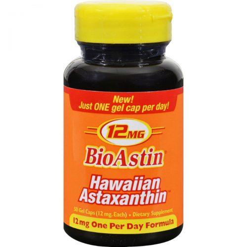 Nutrex Hawaii HG1097831 12 mg Bioastin Hawaiin Astaxanthin - 50 Gel Capsules