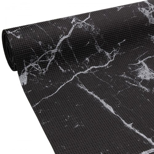 Oak & Reed YM4-1201 Black 4 mm Reversible Yoga Mat Wrap Marble Black - Multi Color
